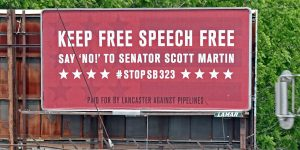 Keep Free Speech Free billboard image